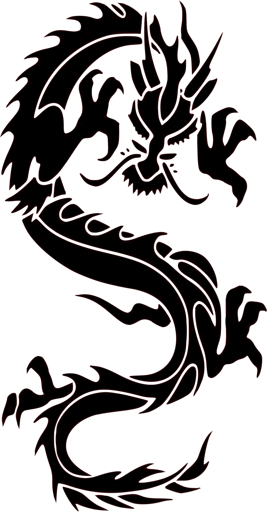 Tribal dragon car camper van truck window stickers 4 clipart wall decal sticker