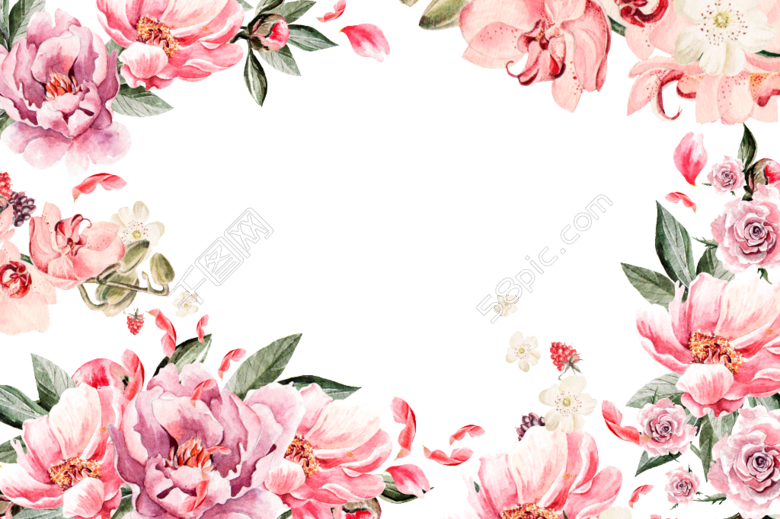 moldura de flores cor de rosa clipart Pink Floral design Flower