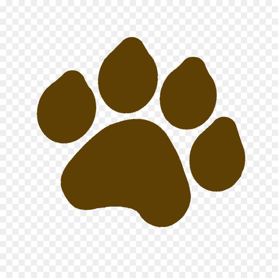 Paw print brown. Panda cartoontransparent png image