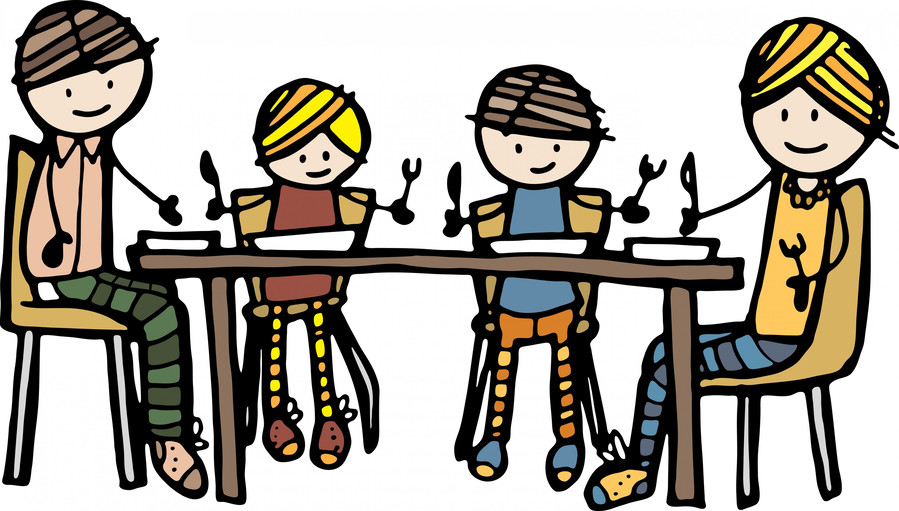 Download prayer before meal for kids clipart Dinner Meal Lunch