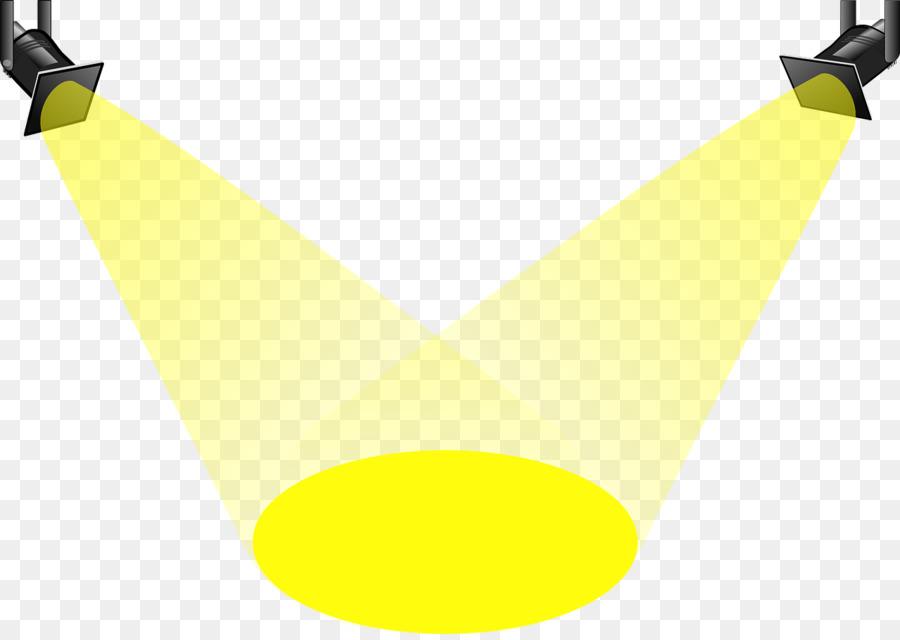 Spotlight graphic. Line cartoon clipart yellow