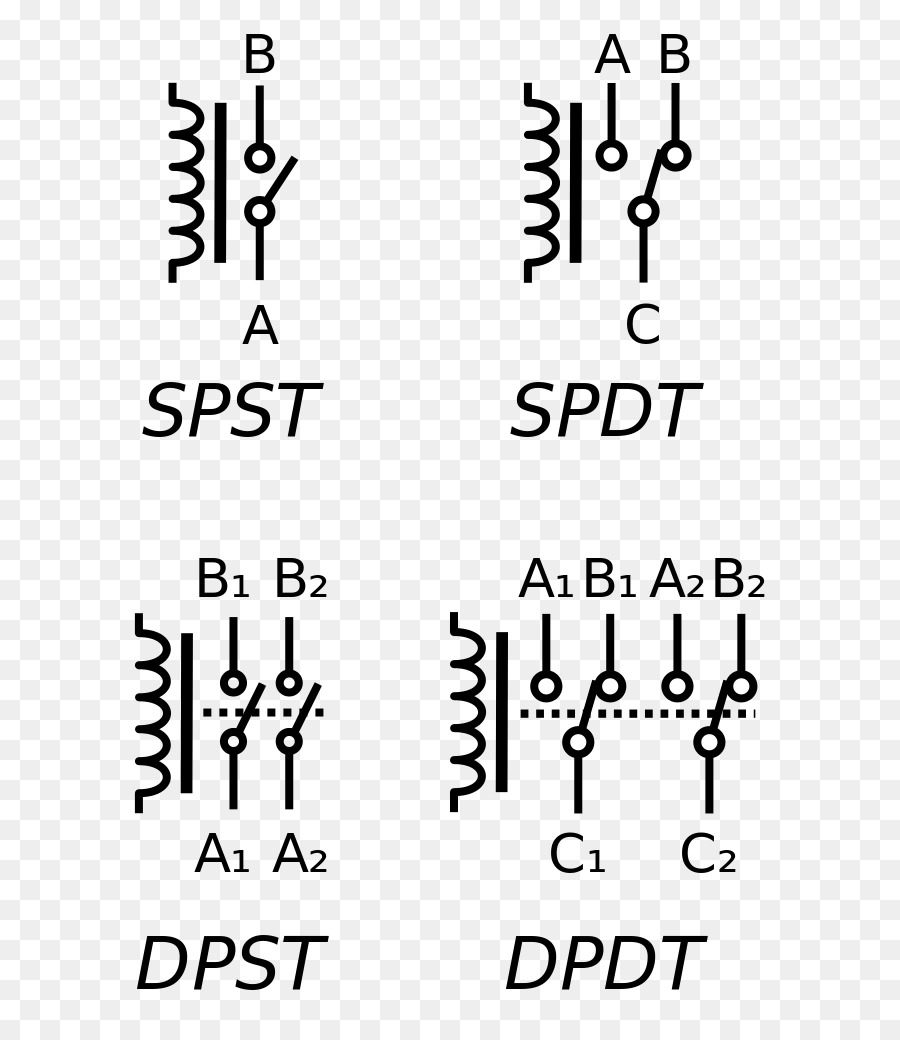 Clipart Resolution 6981023 Spdt Relay Symbol Clipart Relay