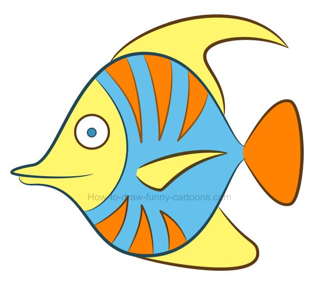 Fish Cartoon Clipart Fish Drawing Yellow Transparent Clip Art
