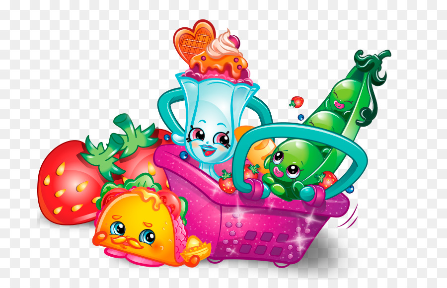 Shopkins transparent background. Cartoon clipart product graphics
