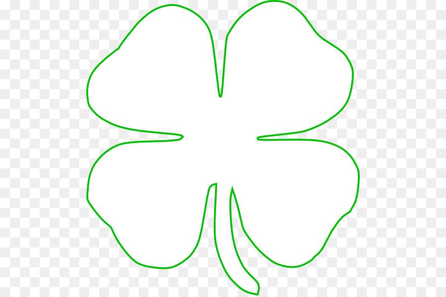 four leaf clover outline green clipart Four-leaf clover Shamrock Clip art