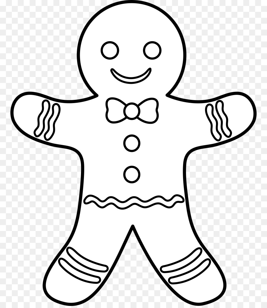 gingerbread man coloring page clipart The Gingerbread Man Coloring book