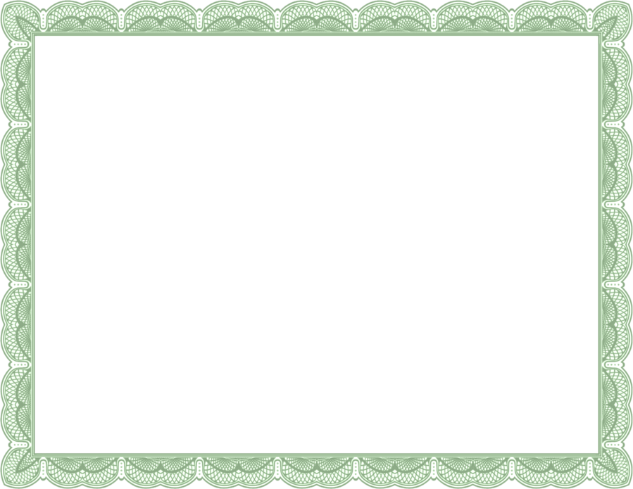 Download Transparent Certificate Border Clipart Clip Art