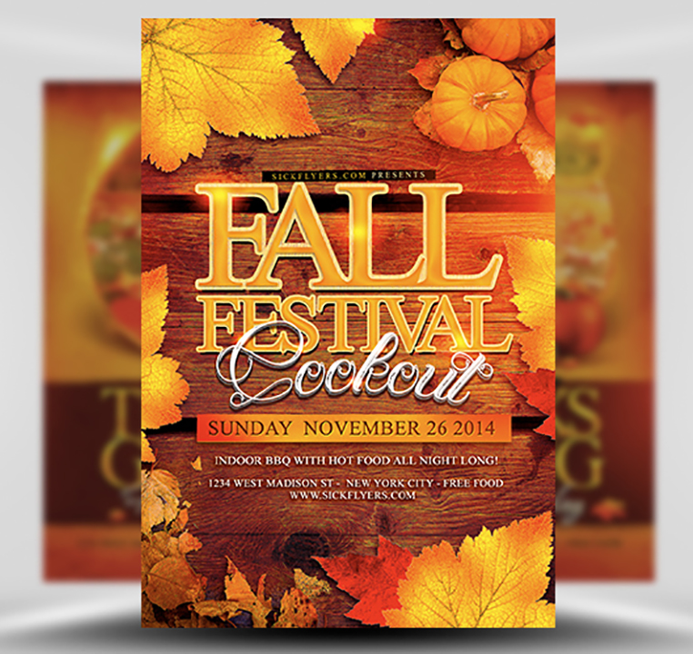 Download Festival Clipart Free Fall Flyer Templates