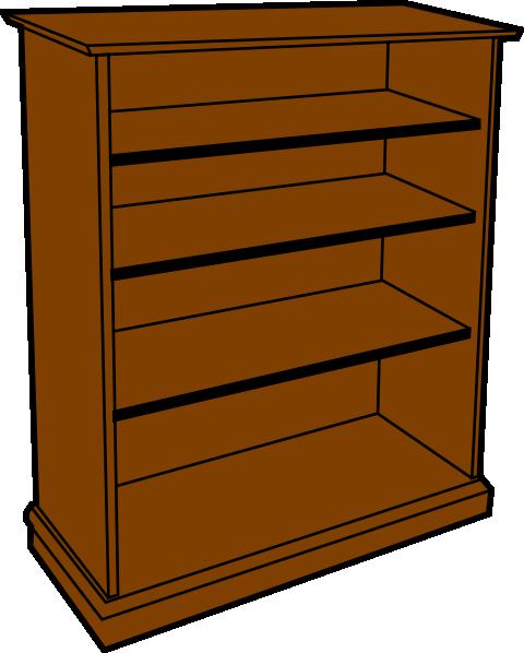 Empty Bookshelf Clipart Bookcase Clip Art