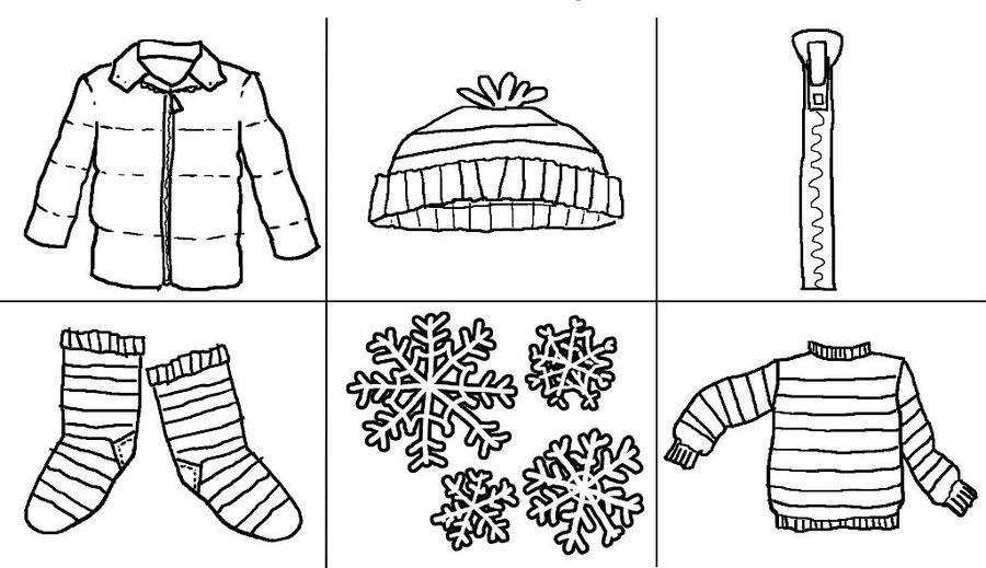Coloring Pages Winter Clothes Clipart T Shirt Clothing Colouring