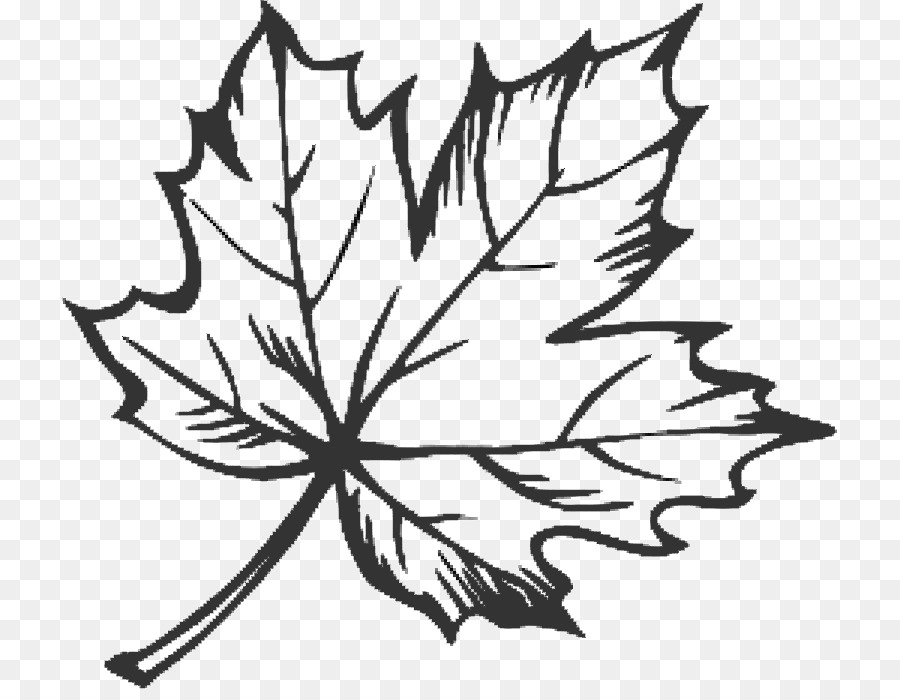 Black and White Clip Art Leaves