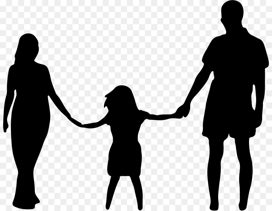 father mother daughter silhouette clipart Daughter Father Mother
