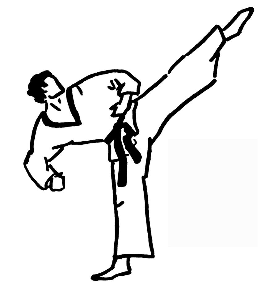 Dibujo Karateca Karate