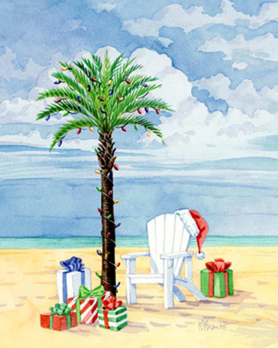Download santa beach christmas cards clipart Santa Claus Christmas ...