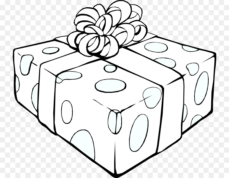 Christmas Gift Box Drawing.Christmas Black And White Clipart Gift Illustration