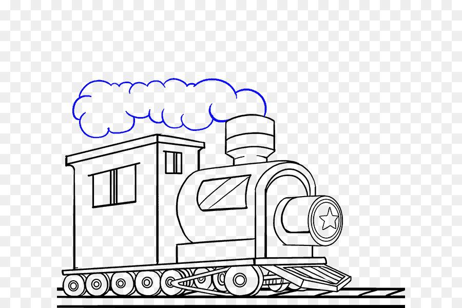 Sketch Line Art Train Drawing