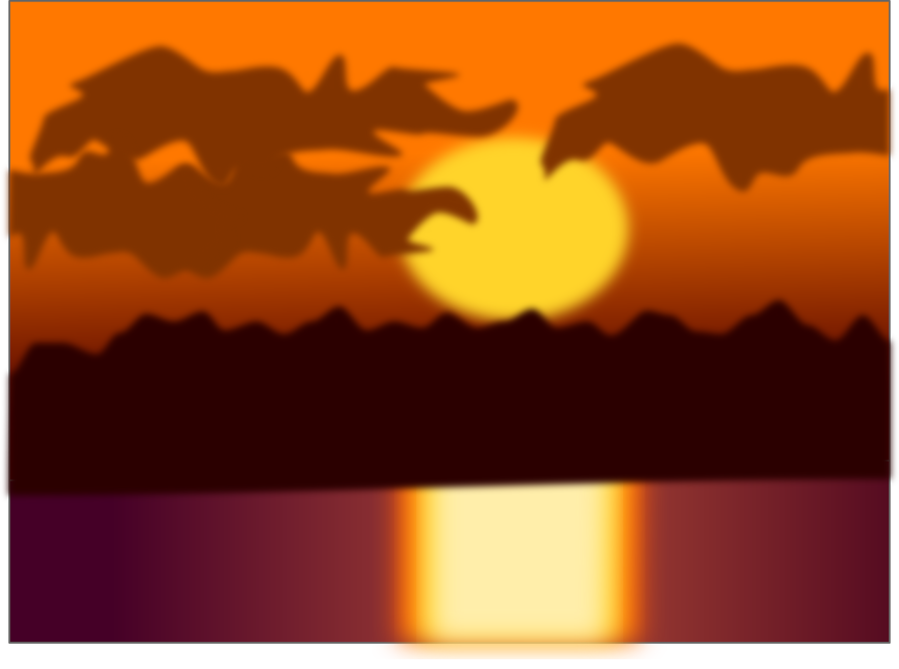 Sunset Sky Background With Transparent Clouds And Sea. Vector.. Royalty  Free Cliparts, Vectors, And Stock Illustration. Image 121746235.