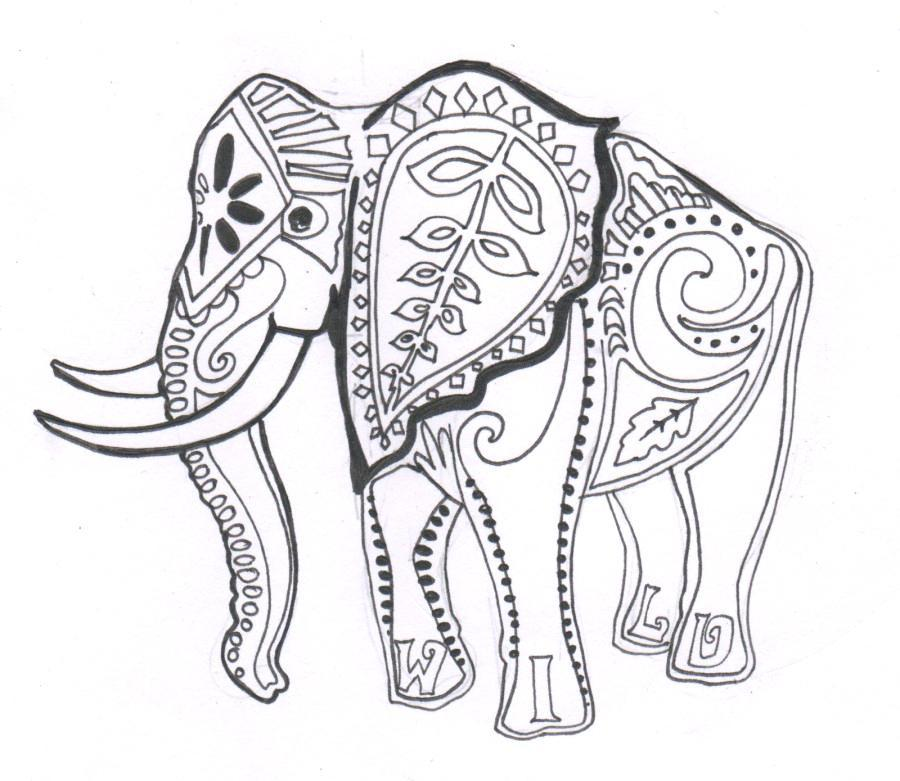 Download indian elephant hard colouring pages clipart Cute Colouring ...