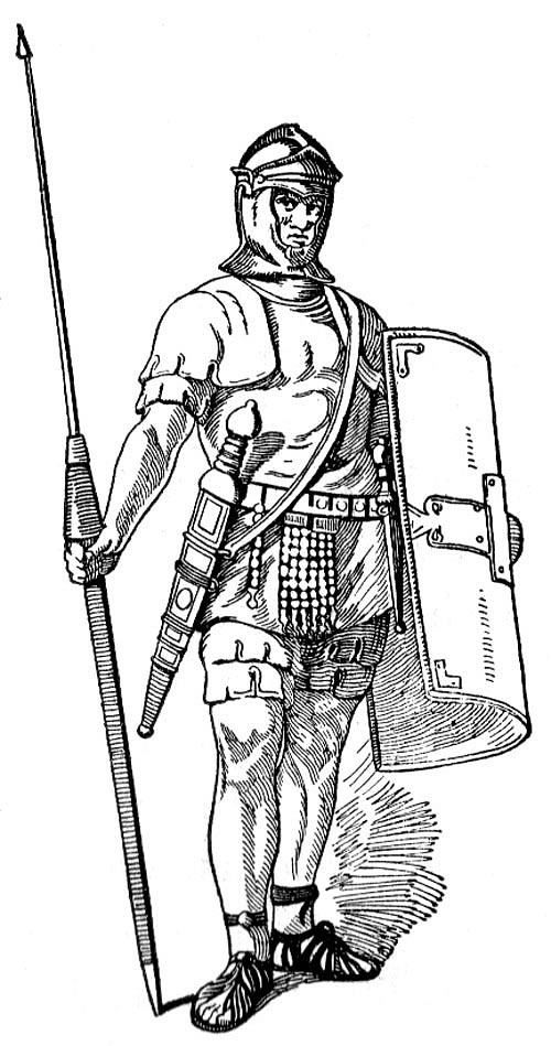 Download Roman Warrior Black And White Clipart Ancient Rome