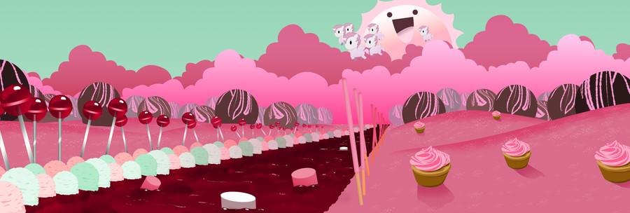 Download Candyland Pixel Art Clipart Desktop Wallpaper