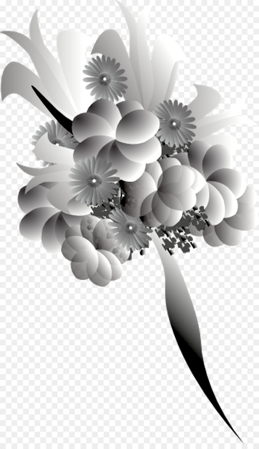 Download Black And White Flower Bokeh Png Clipart Floral Design
