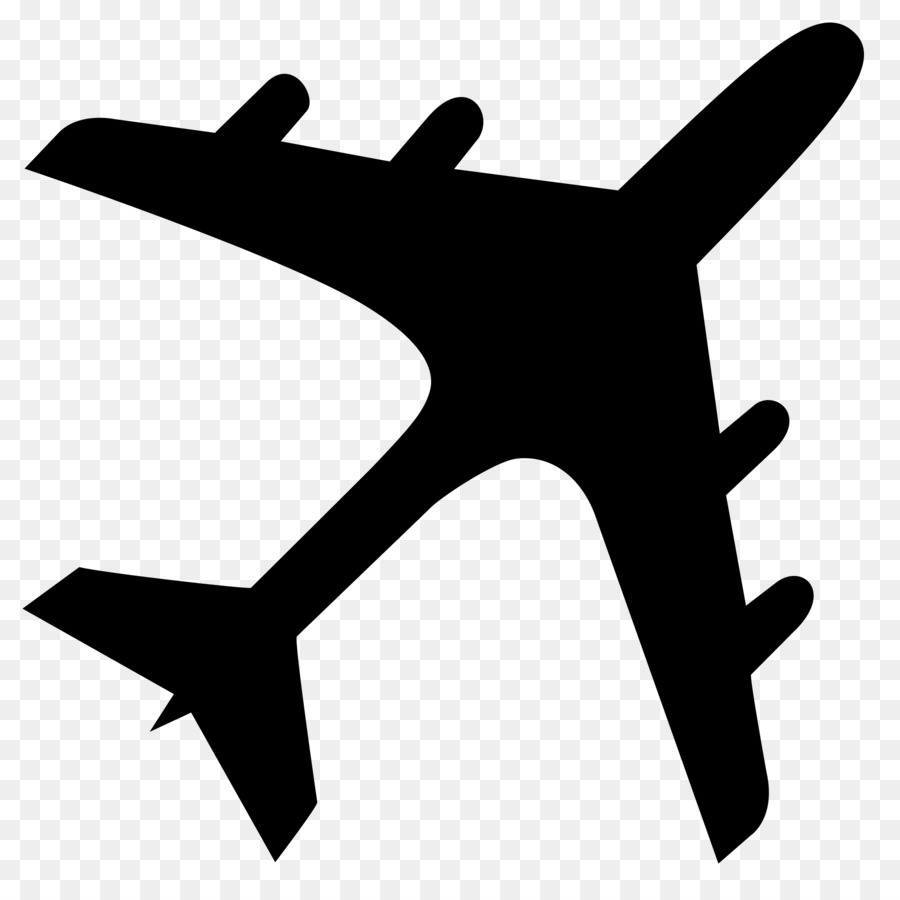 Airplane silhouette. Drawing clipart graphics