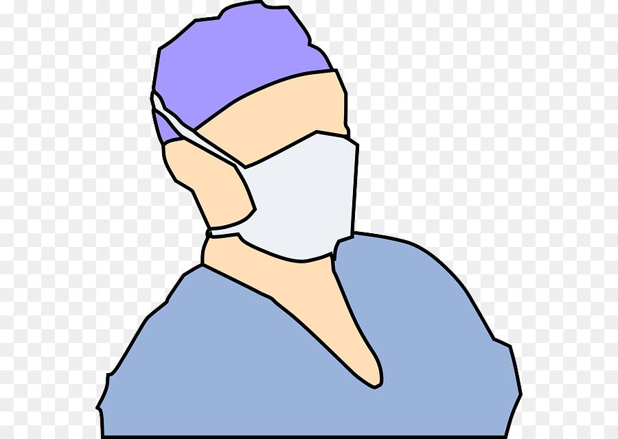 Medicine Nose Transparent Clipart Cartoon Art Doctor Mask - Clip