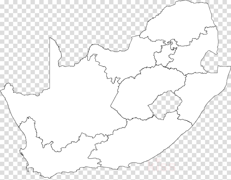 Blank Map Of South African Provinces Download blank map of south africa provinces clipart South Africa