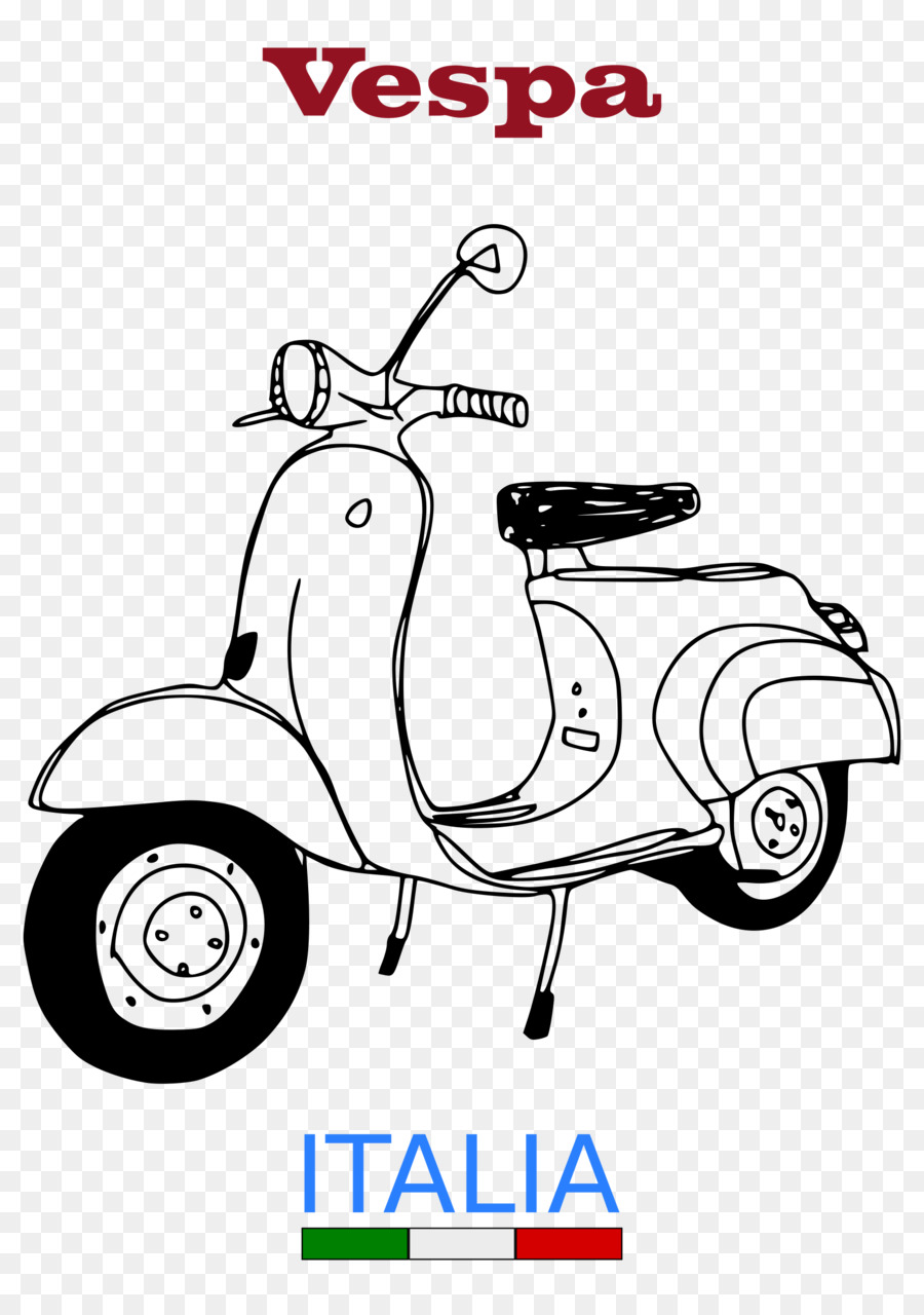 White Background Clipart Scooter Motorcycle Product Transparent Clip Art