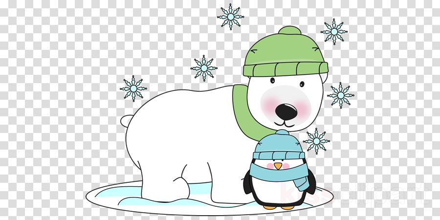 winter polar bear clipart Polar bear Clip art