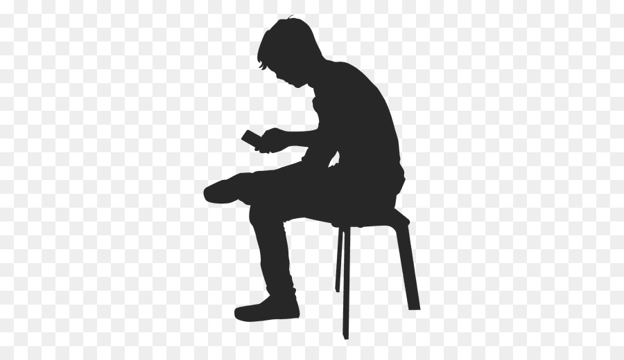 silhouette man sitting on bench clipart Silhouette Chair