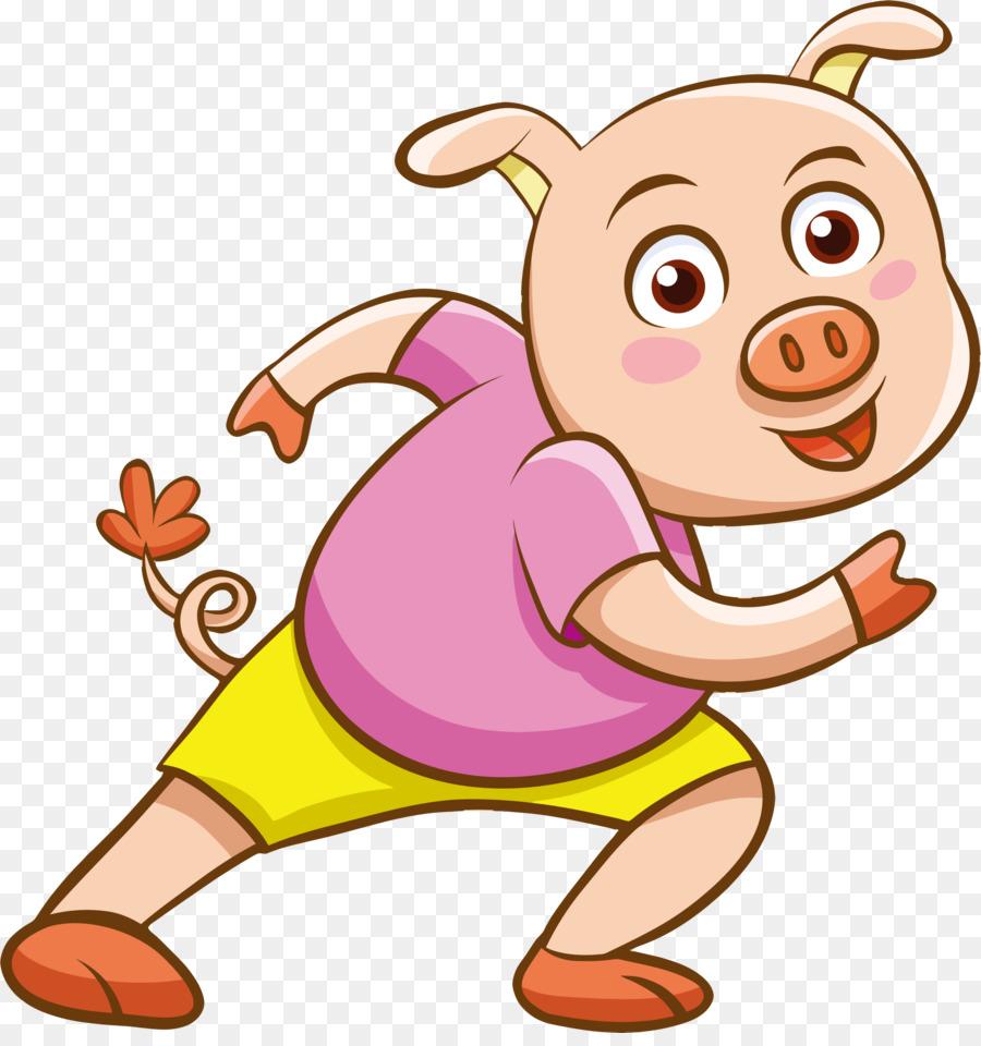cartoon pig clipart Domestic pig Cartoon Clip art