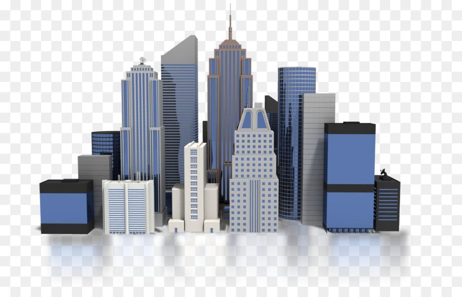 downtown buildings clipart Commercial building Clip art