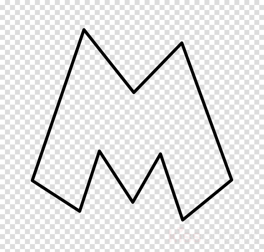 Download Triangle Clipart Letter M Drawing