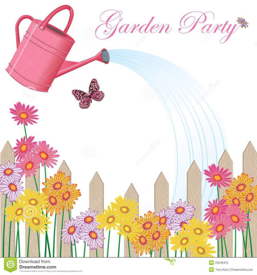 garden party birthday design flower yellow graphics font