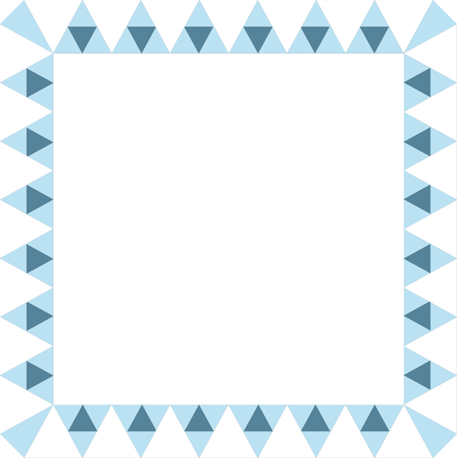 Blue Pattern Frame