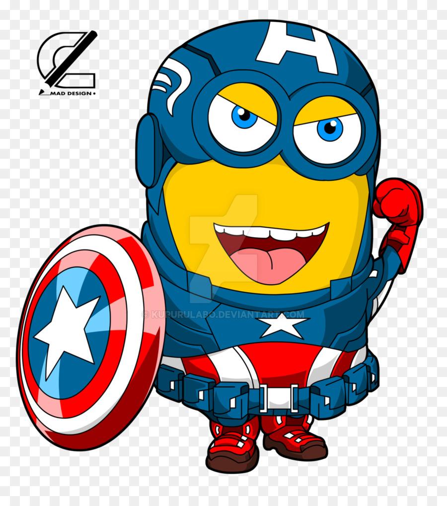 minion captain america clipart Captain America Minions Iron Man