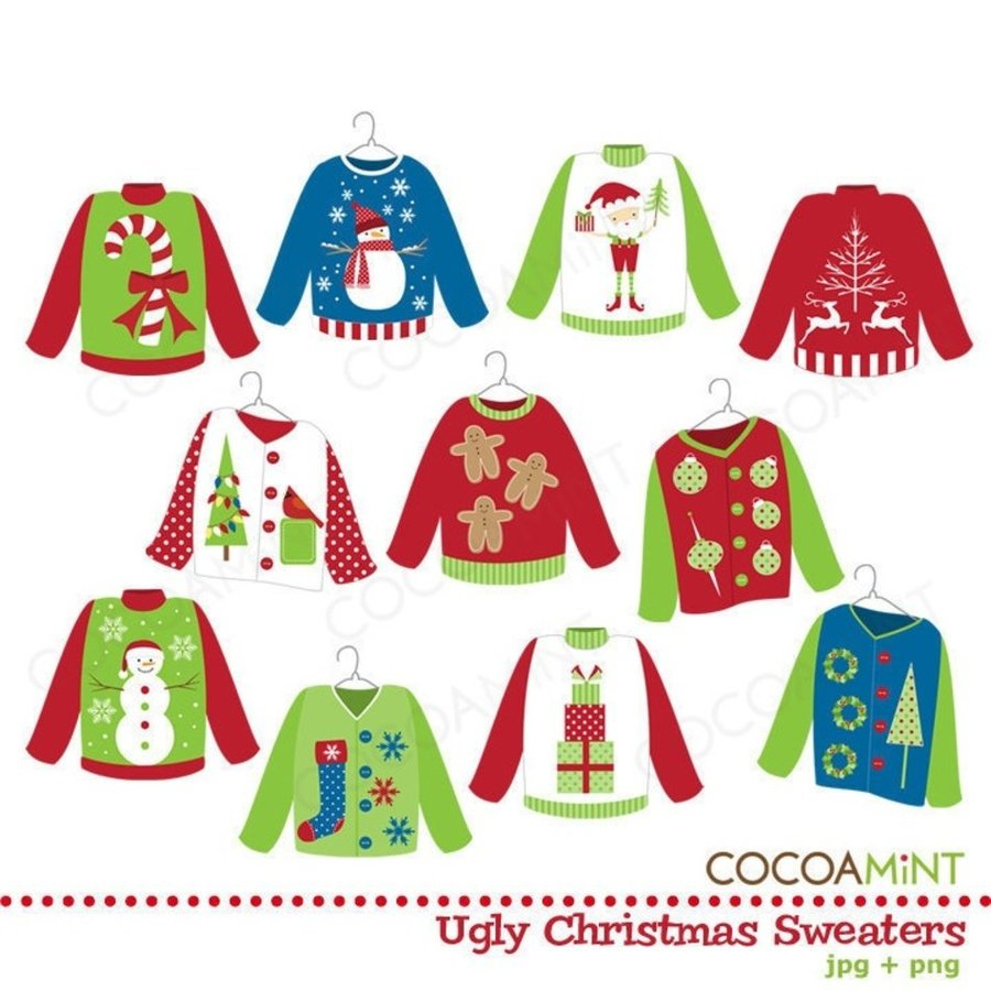 Download ugly christmas sweater clip art clipart Christmas jumper ...
