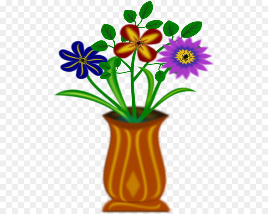 Download Flowers In Vase Clipart Vase Clip Art Drawing Flower