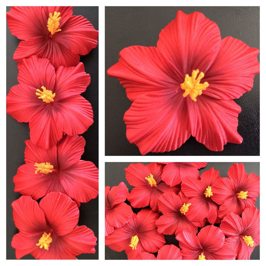 Download Hawaiian Foam Hibiscus Flower Hair Clip Aloha Red Clipart