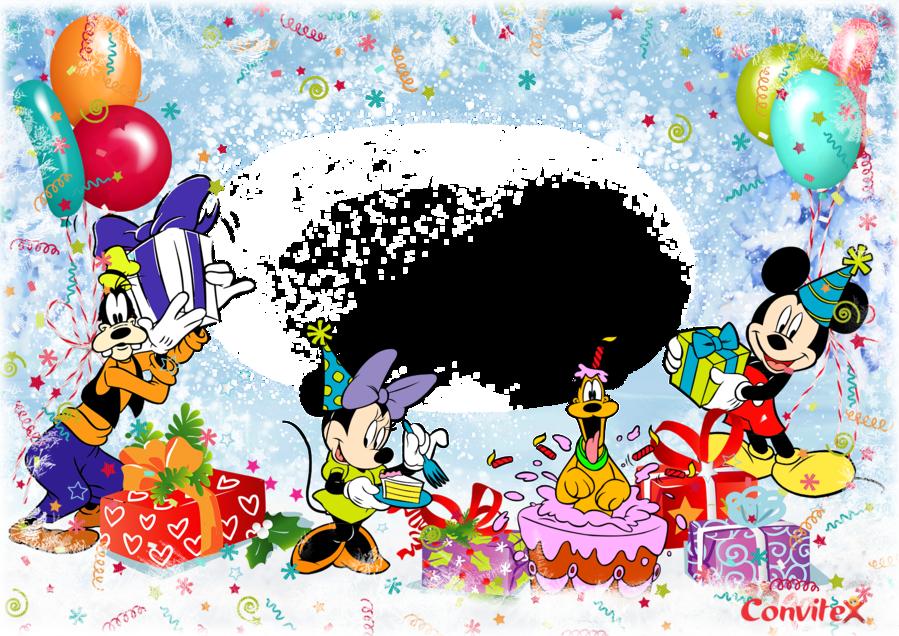 Открытка для фотошопа с днем рождения детям, анимация
