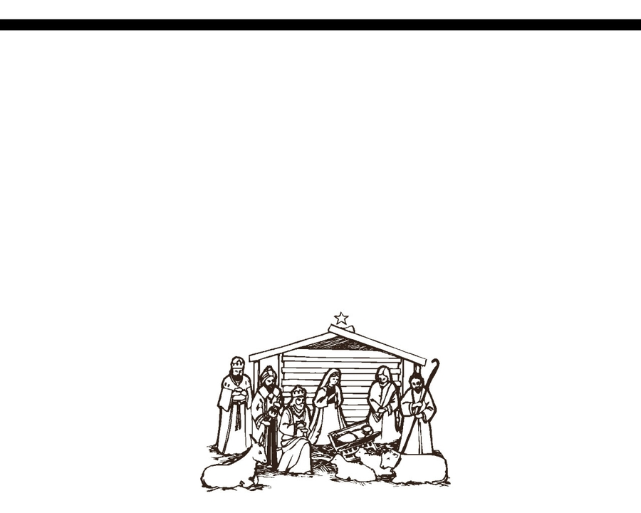 Download nativity scene coloring pages clipart Nativity scene ...