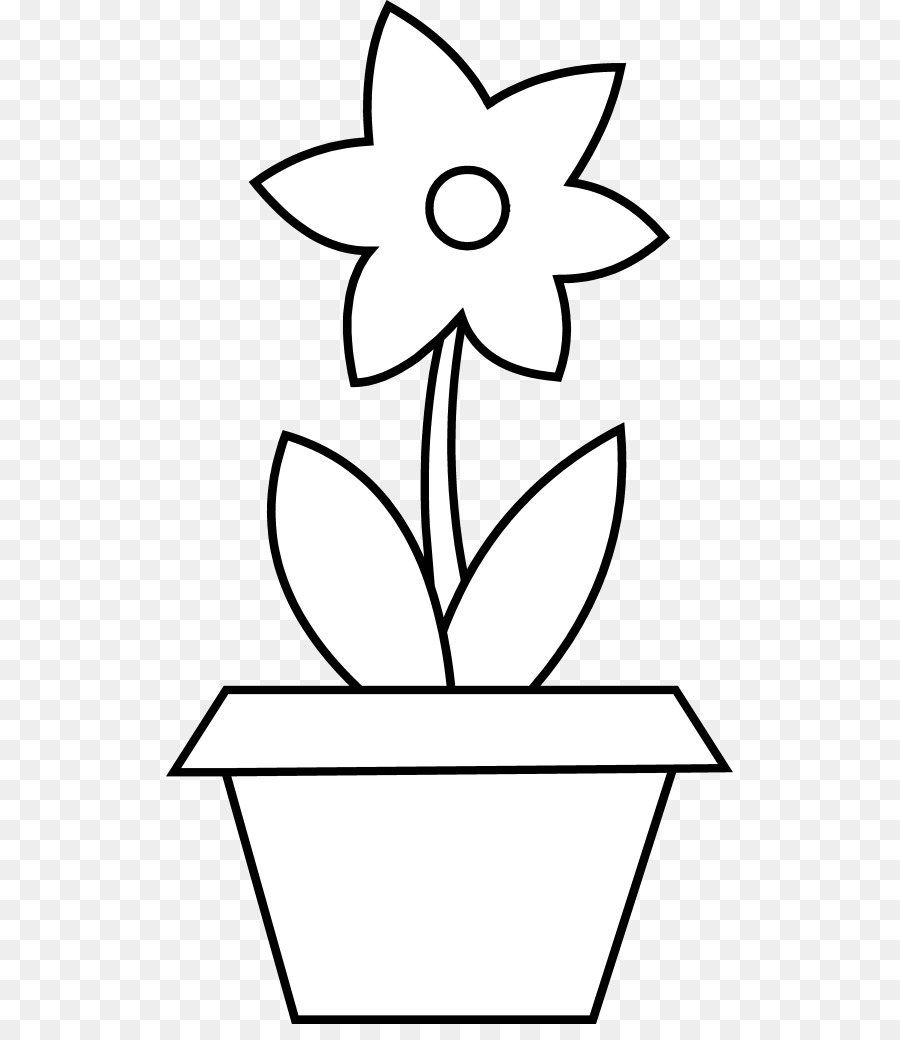 Flower Pot Coloring Page Flower Pot Coloring Coloring Beautiful ... | 1040x900