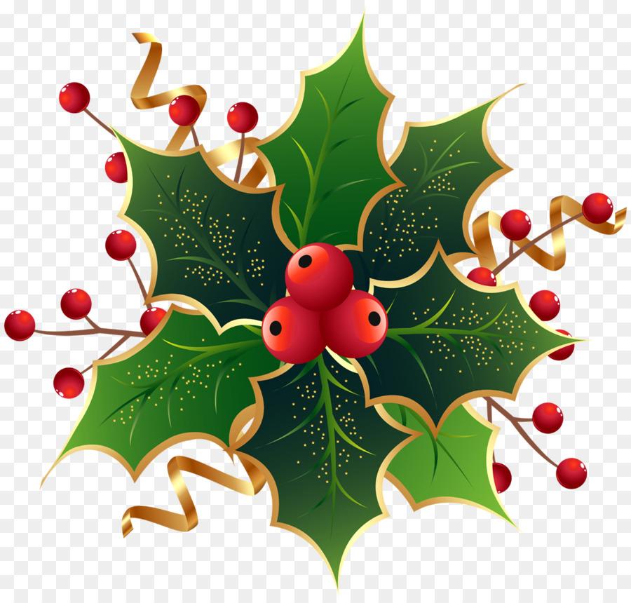 Christmas Holly Clip Art.Christmas Tree Branch Clipart Christmas Fruit Tree