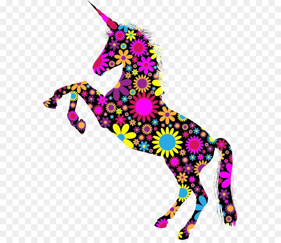 floral unicorn clipart Unicorn Flower Clip art