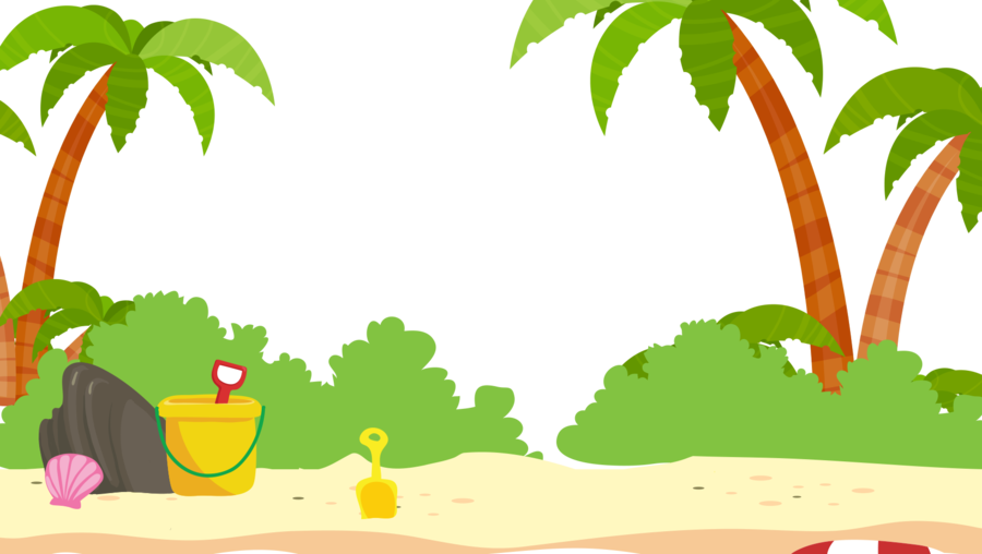 Beach transparent. Palm tree drawing clipart