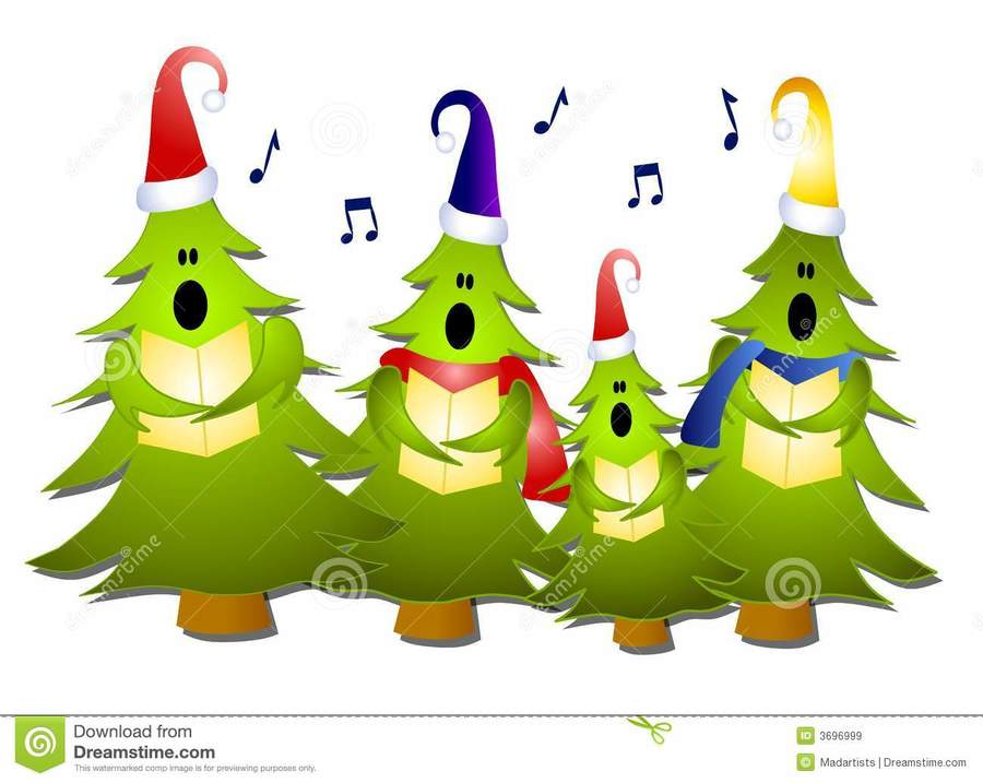 download singing christmas tree clipart christmas carol christmas tree clip art