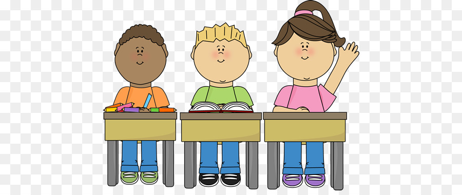 Classroom student. Friendship cartoon clipart school