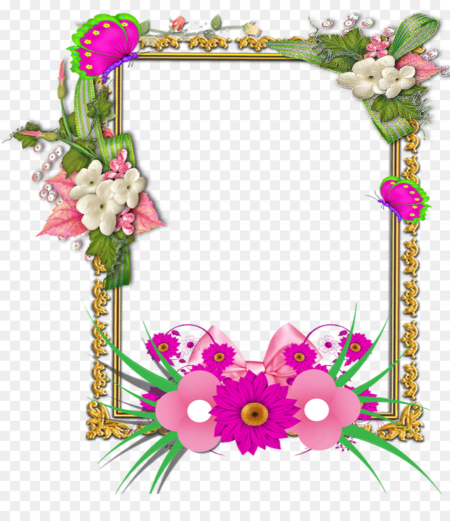 Floral Wreath Frame
