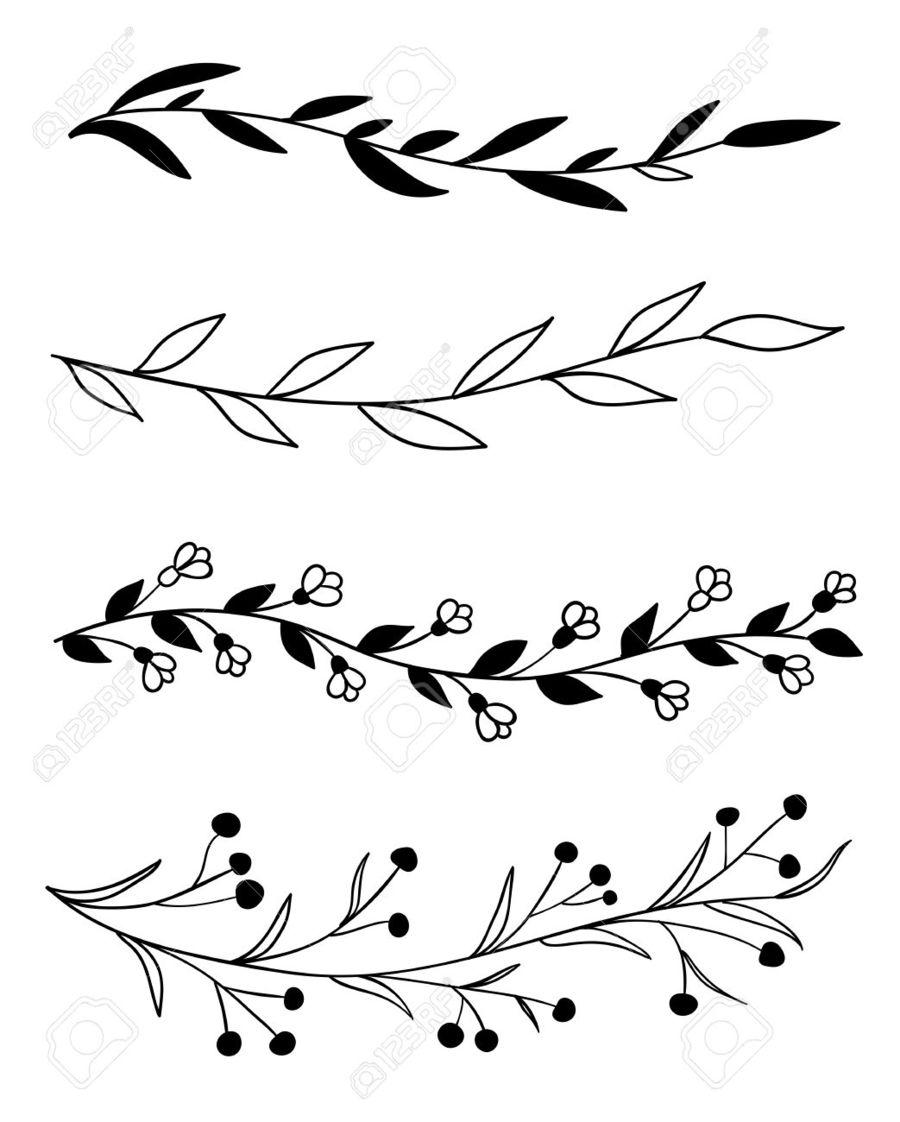 Flower Line Border Drawing Flowers Healthy